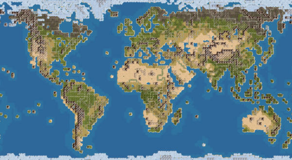 Earth map, with 18 civs (Huge) | CivFanatics Forums