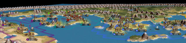 The Romans can be spotted from this screenshot of the ancient mediterranean