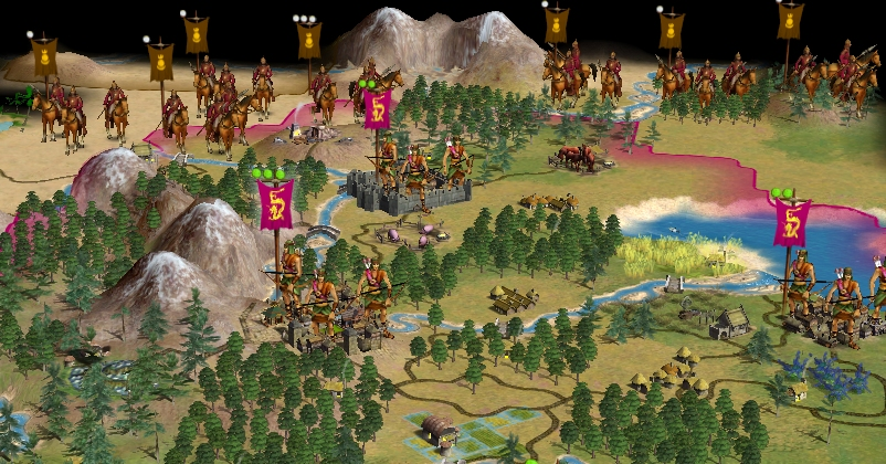 the Mongols in this civilization scenario are a real threat